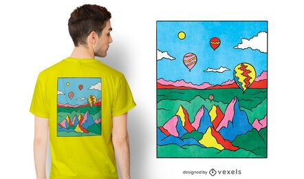 Colorful capadocia t-shirt design