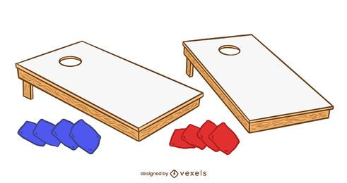 Cornhole elements set