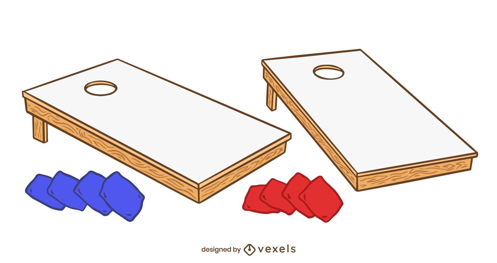 Cornhole elements set