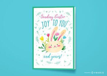 Diseño de tarjeta de felicitación de alegría de Pascua