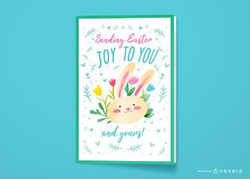 Easter joy greeting card design