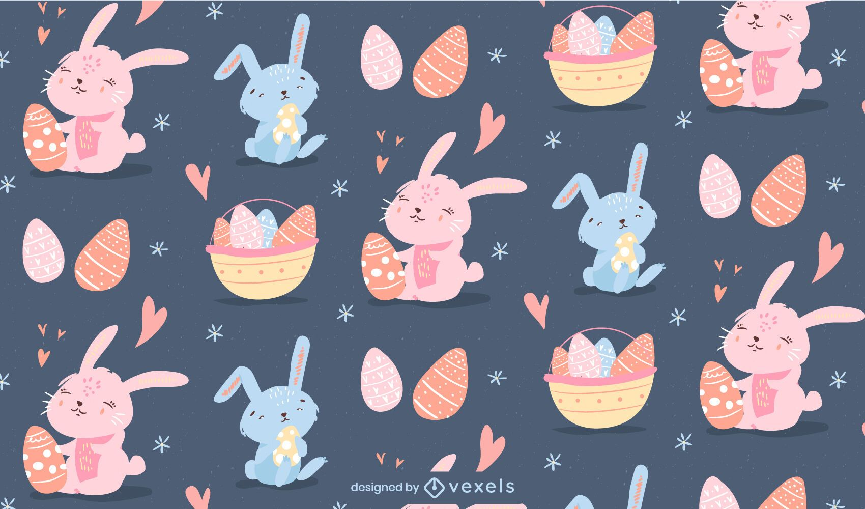 Cute easter bunny pattern