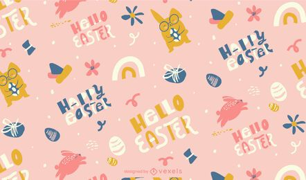 Hello easter pattern design
