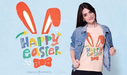 Glückliches Ostern-T-Shirt Design