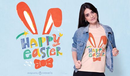 Happy easter t-shirt design