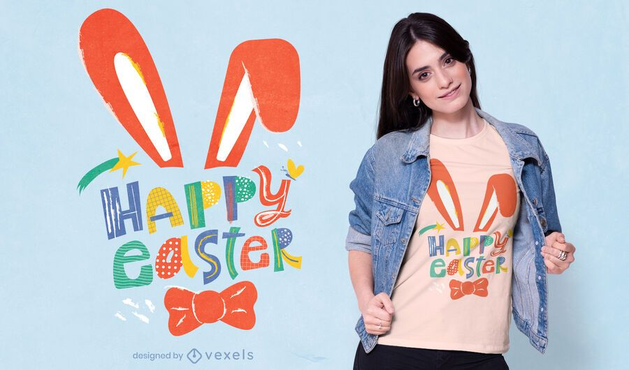 Happy easter t-shirt design