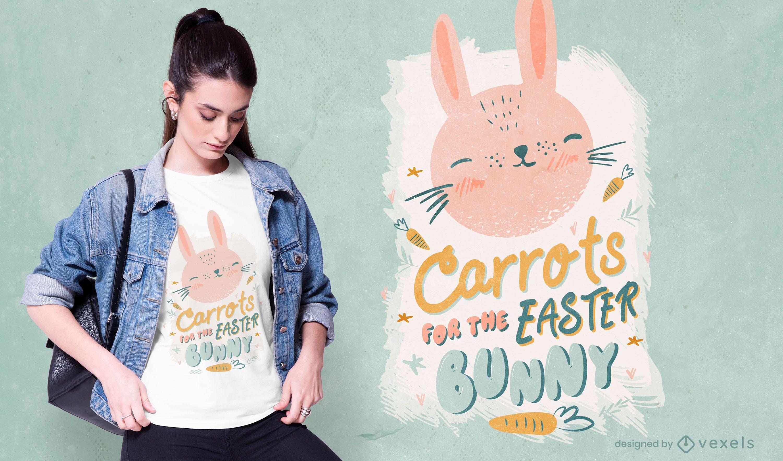 Dise?o de camiseta de conejo de pascua de zanahorias.