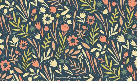 Easter spring flowers pattern design