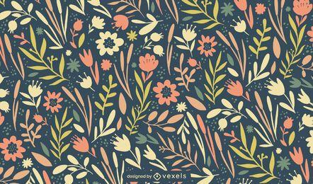 Projeto de padrão de flores de primavera de Páscoa
