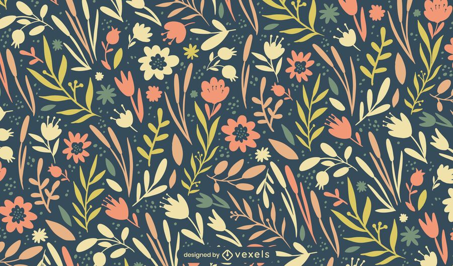 Easter spring flowers pattern design