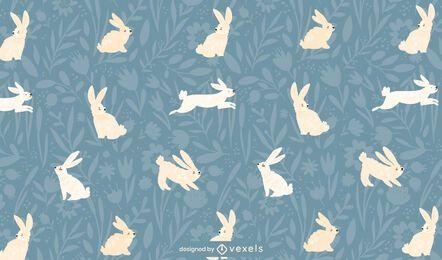 Patrón de conejitos de Pascua saltando