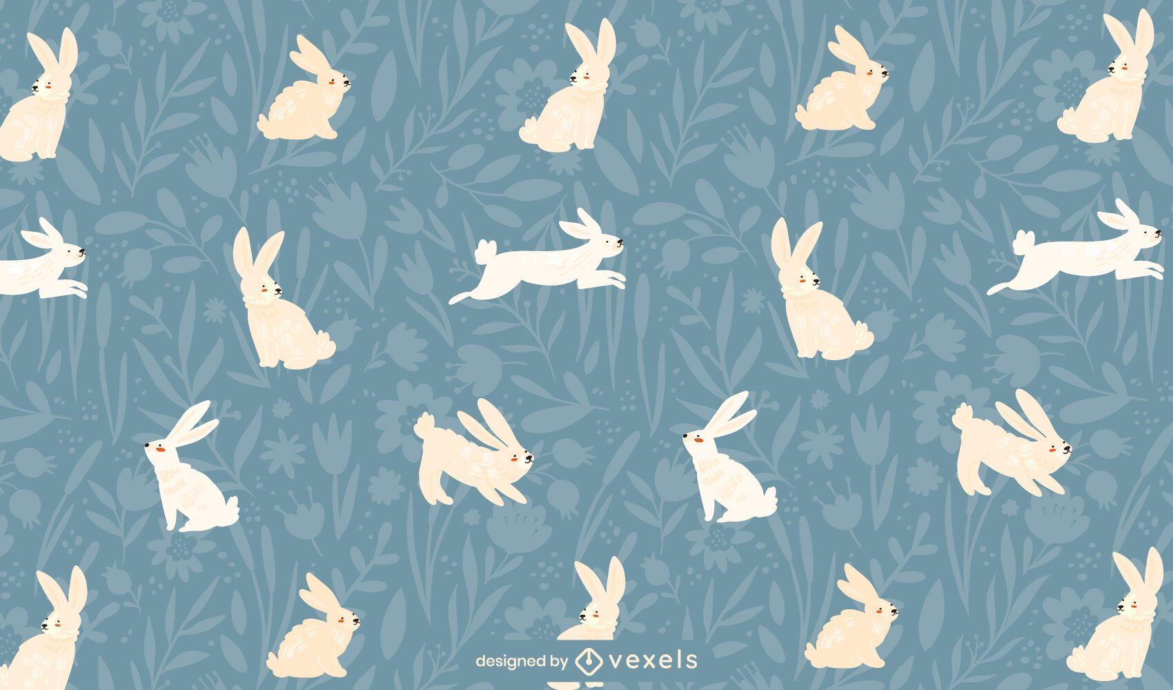 Easter hopping bunnies pattern