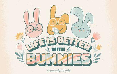 A vida com letras de coelhos