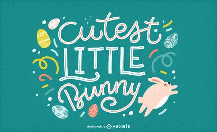 Cutest little bunny lettering design