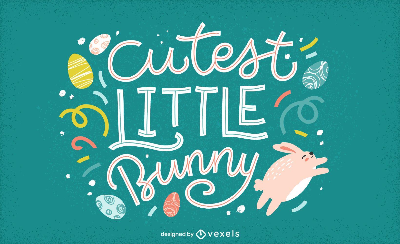 Cutest little bunny lettering design