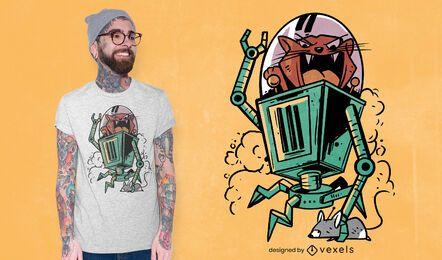 Katzenmausroboter-T-Shirt Design