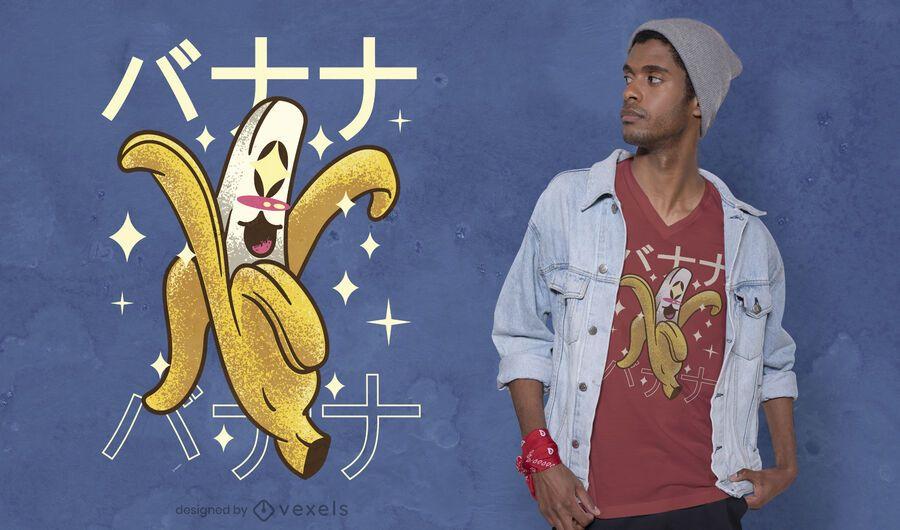 Happy banana kawaii t-shirt design