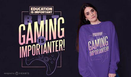 Diseño de camiseta de educación de videojuegos.