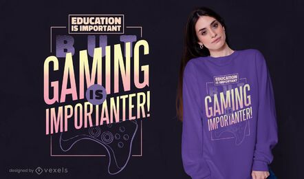 Gaming education t-shirt design