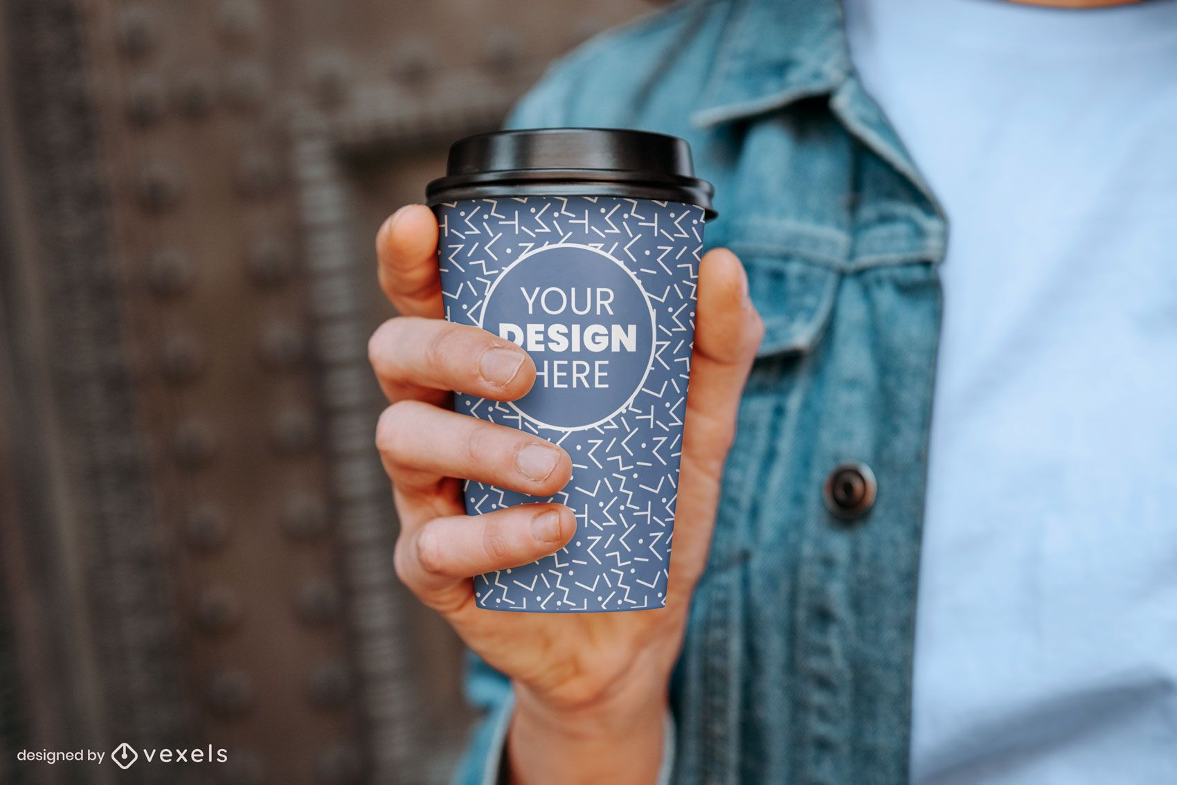 Paper coffee cup model mockup