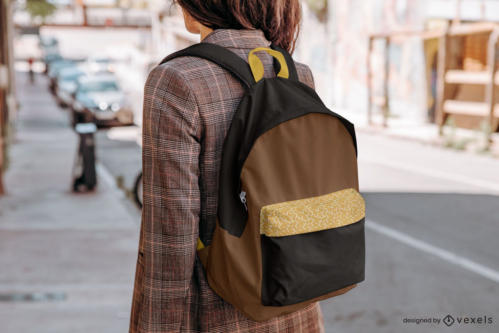 Backpack model mockup composition
