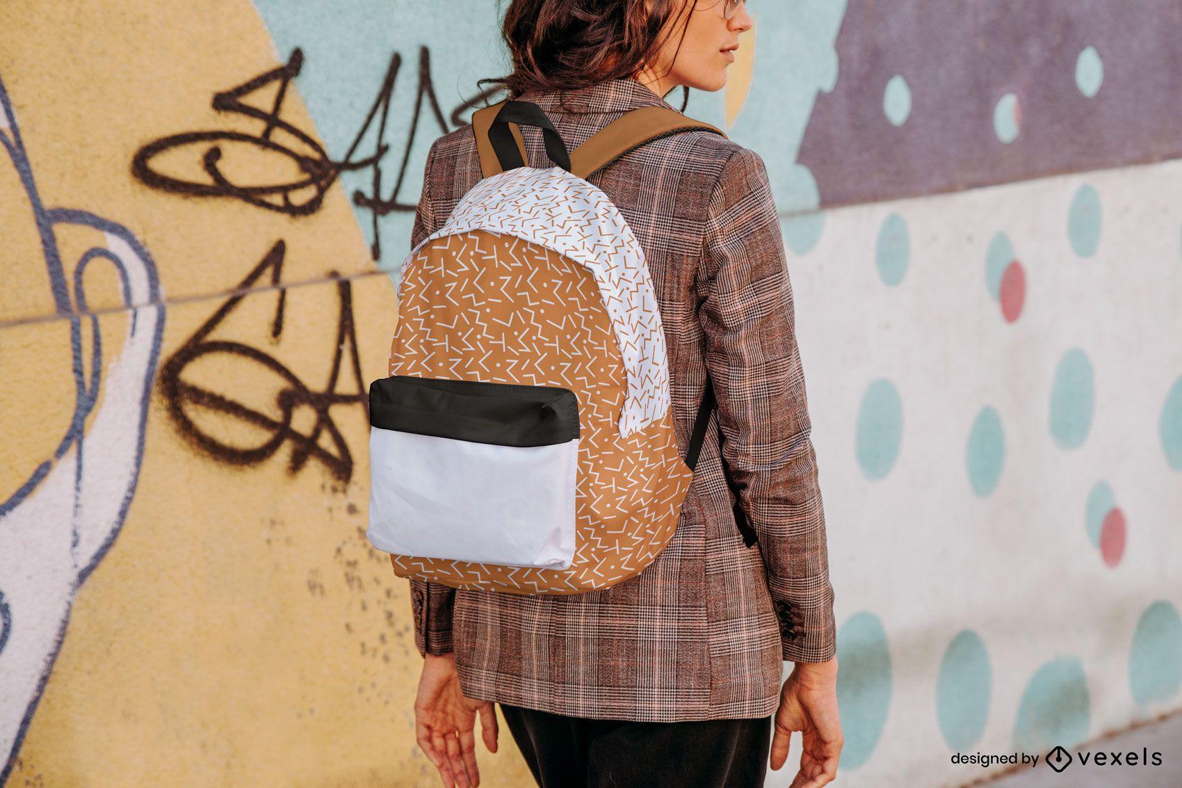 Backpack street mockup