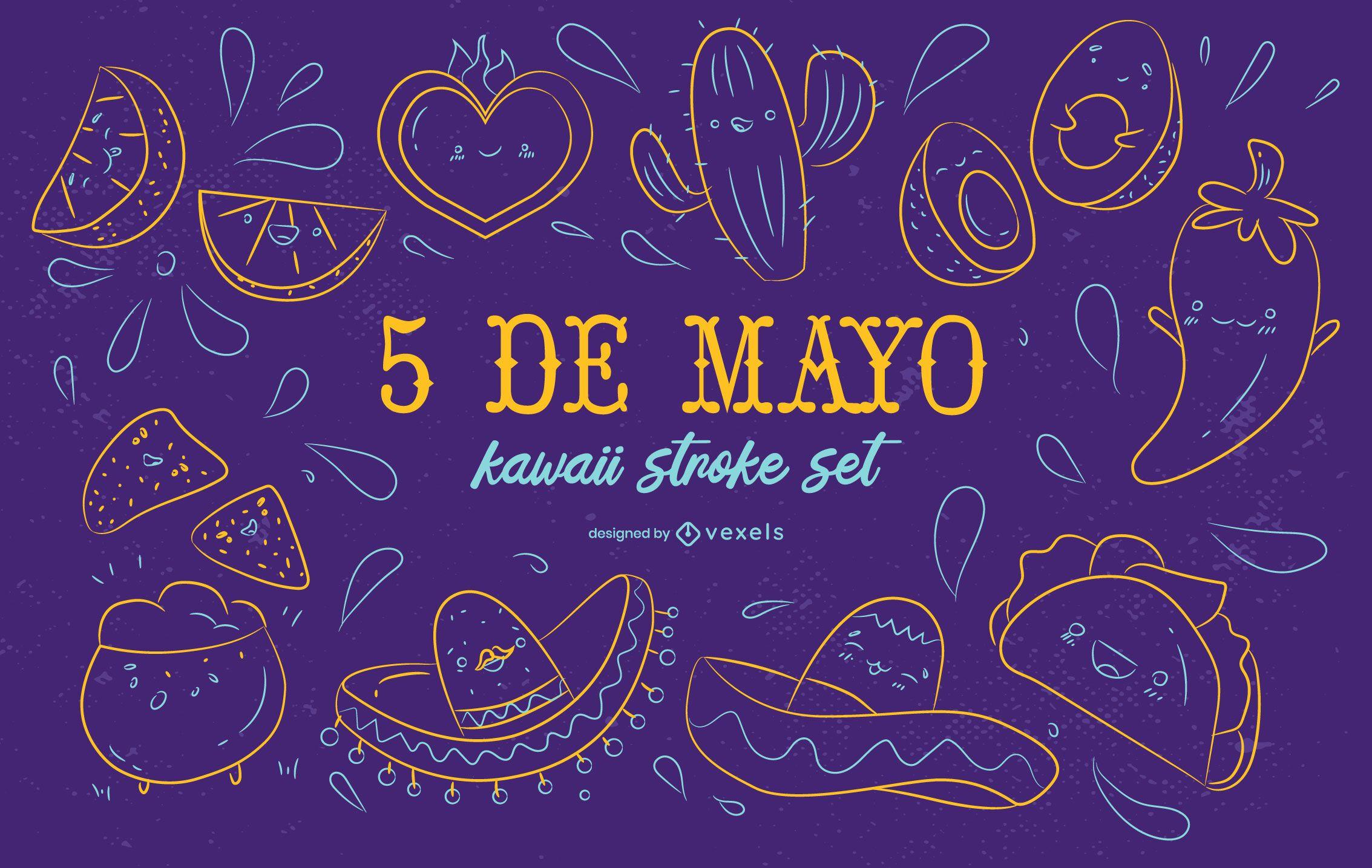 Cinco de mayo kawaii set