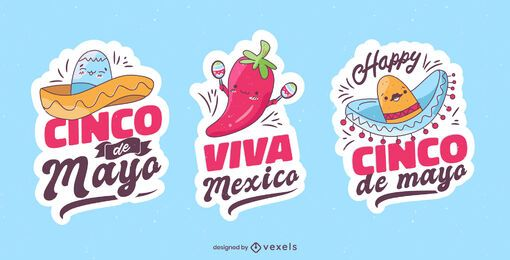 5 de mayo badge set