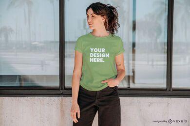 Modell T-Shirt Modell Zusammensetzung