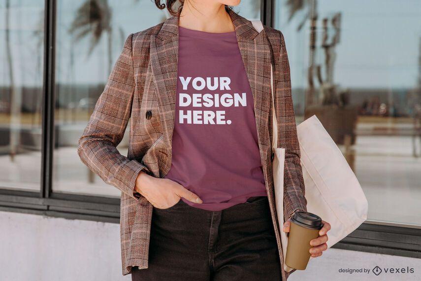 Blazer t-shirt mockup composition