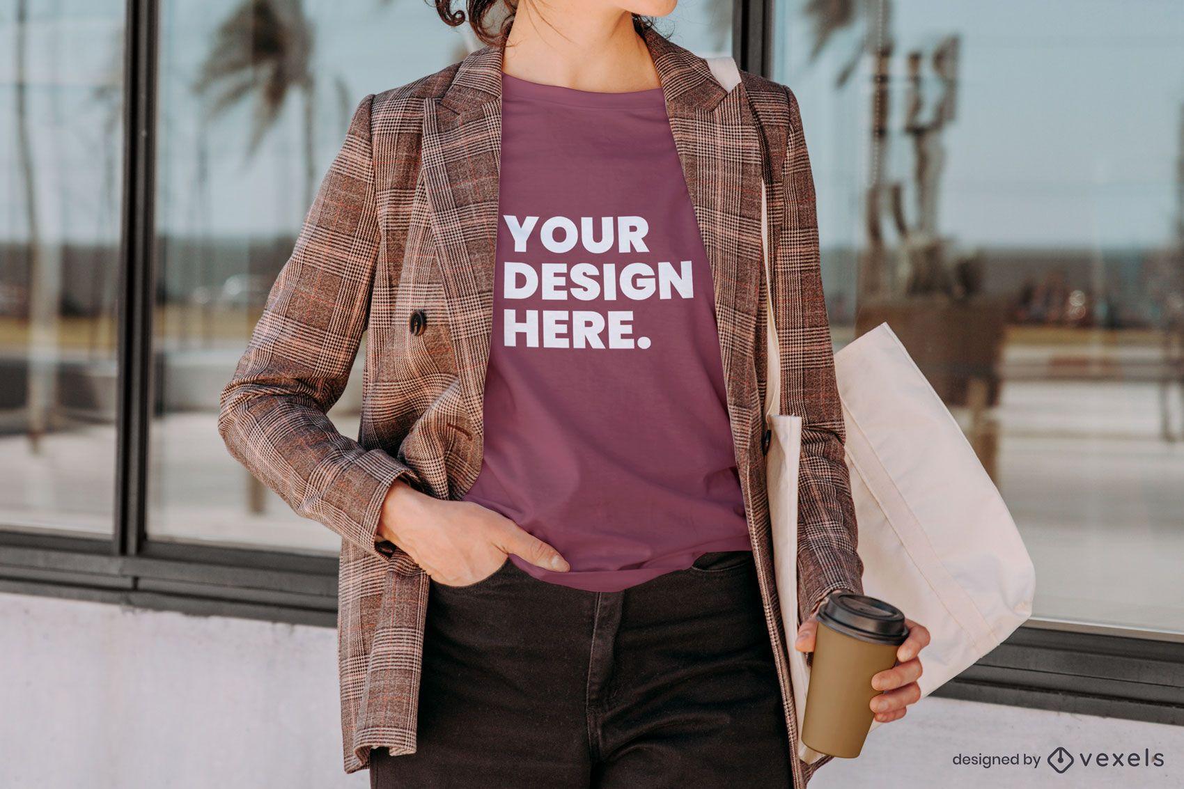 Composición de la maqueta de la camiseta del blazer