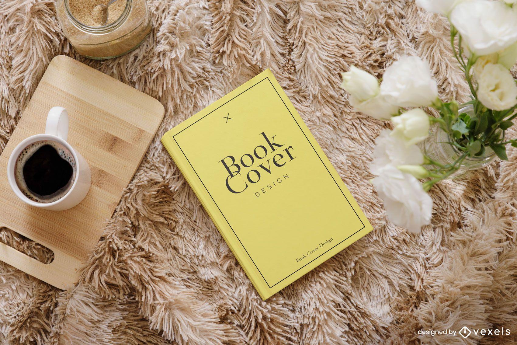 Composição da maquete do tapete da capa do livro