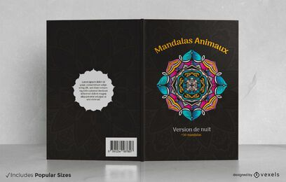 Mandalas animaux book cover design