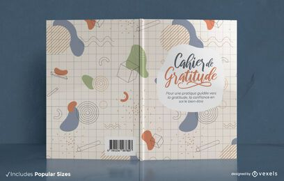 Cahier de gratitude book cover design