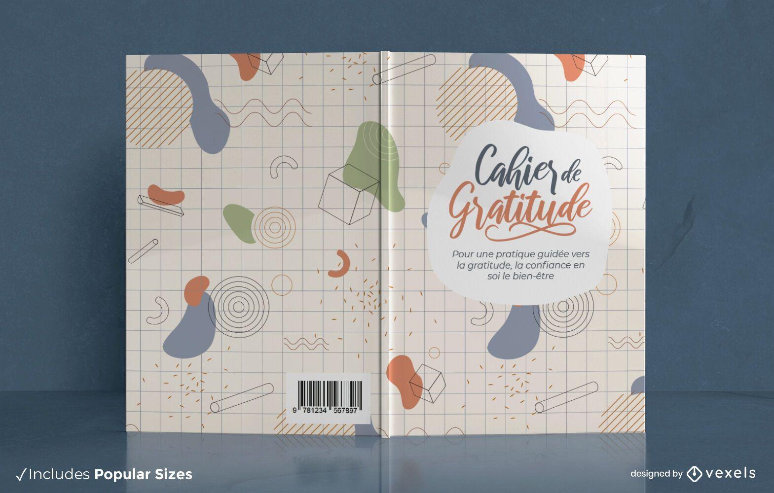 Cahier de gratitude book cover design