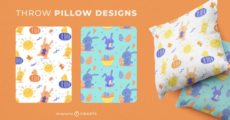 Easter throw pillow set