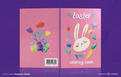 Diseño de portada de libro para colorear de Pascua