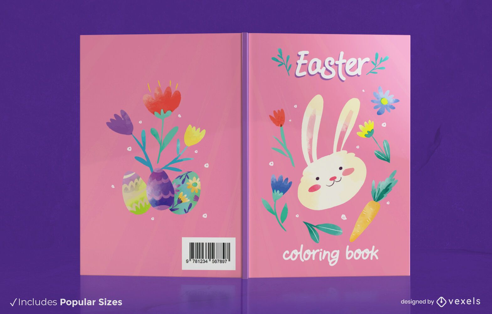 Easter coloring book cover design