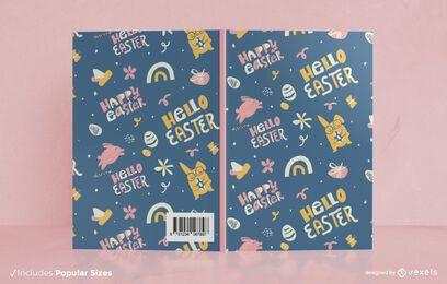 Diseño de portada de libro de feliz pascua