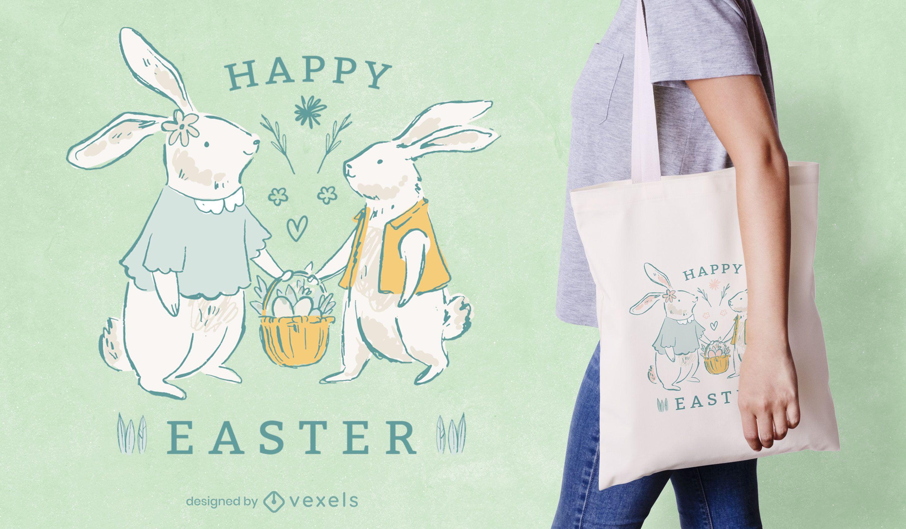 Happy Ostern Einkaufstasche Design