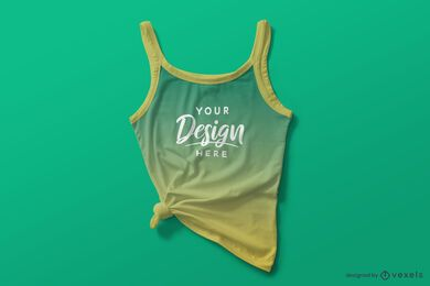 Tied tank top mockup composition
