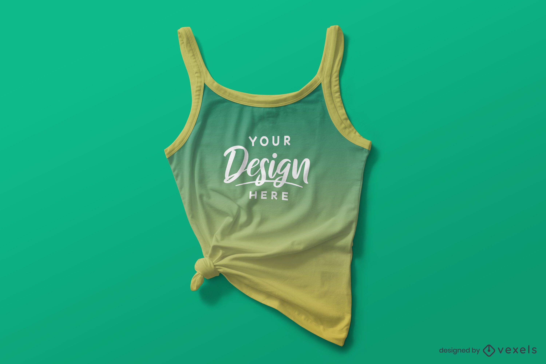 Composición de maqueta de camiseta sin mangas atada