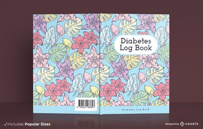 Design da capa do livro de registro de diabetes