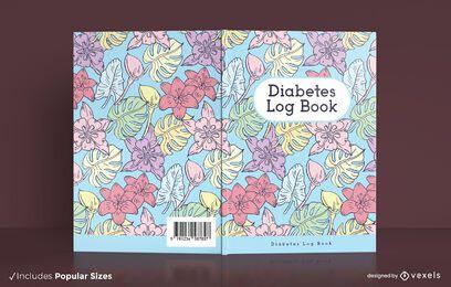 Diseño de portada de libro de registro de diabetes
