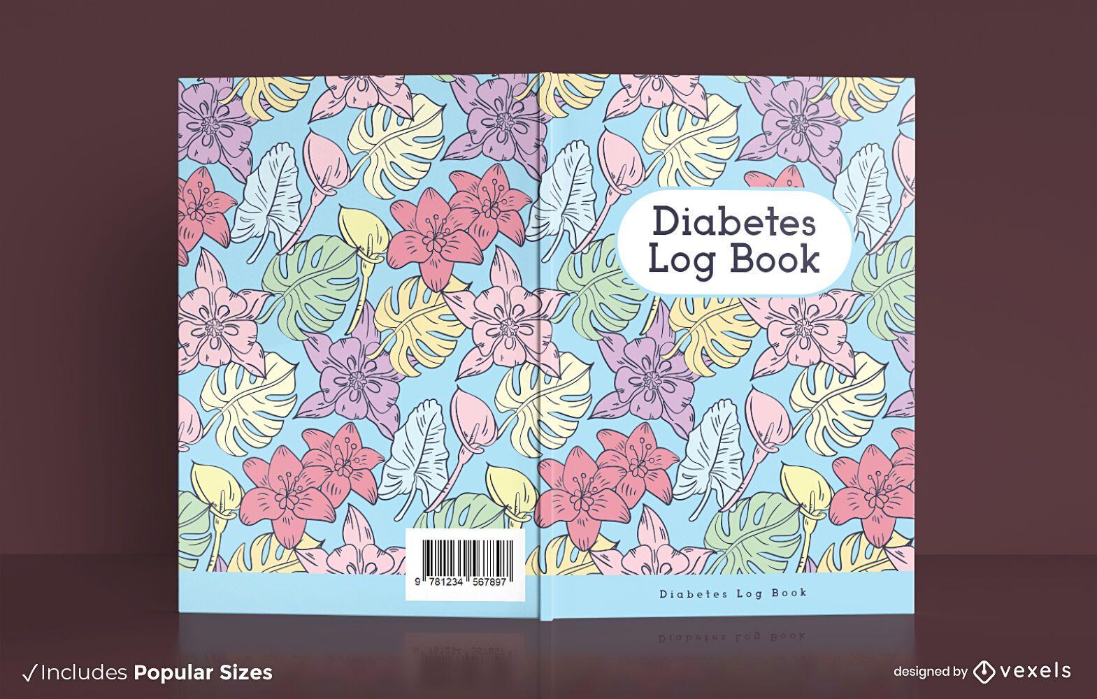Diabetes log book cover design