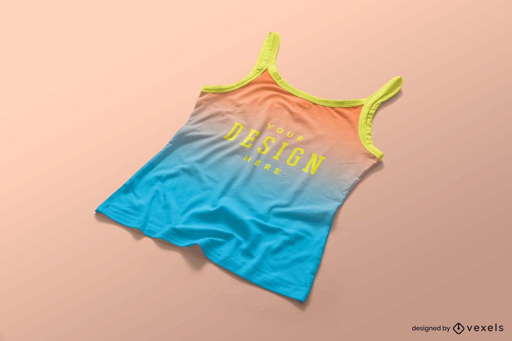 Composición editable de maqueta de camiseta sin mangas