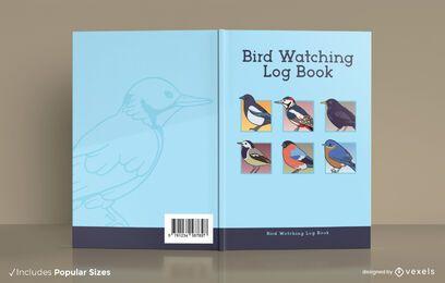 Vogelbeobachtungslogbuchabdeckungsentwurf