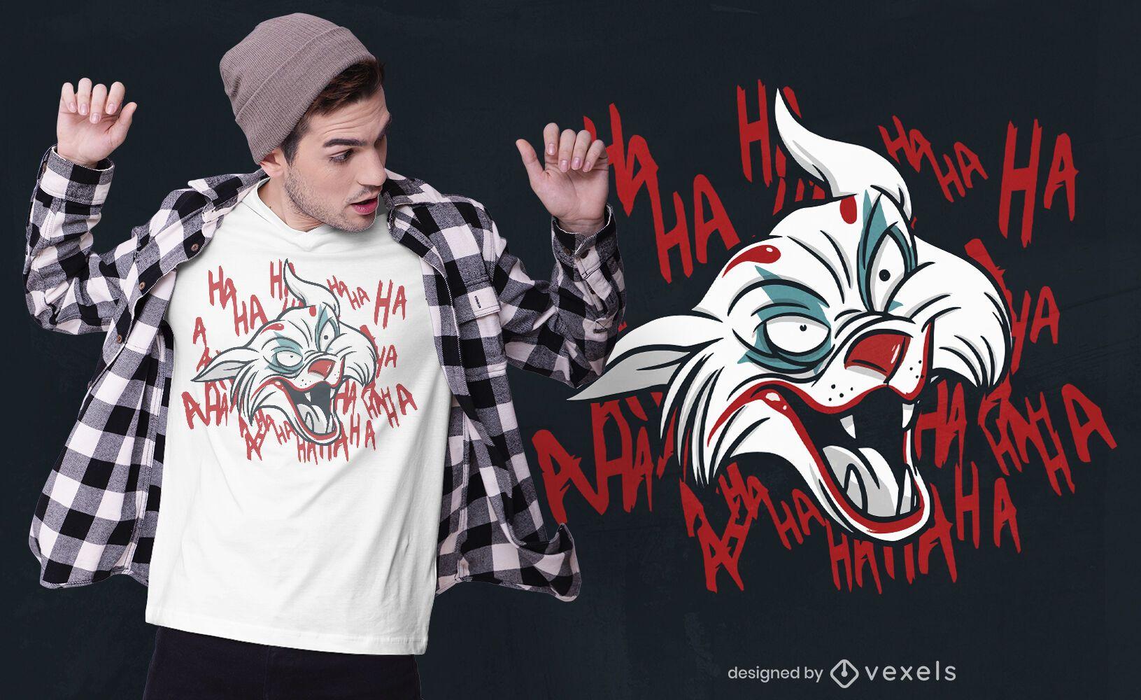 Design de t-shirt do gato Joker