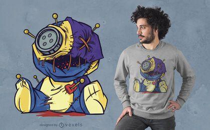 Gruselige Voodoo-Puppe T-Shirt Design