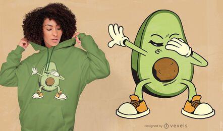 Diseño de camiseta de aguacate frotando